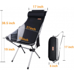 Highback camping chair