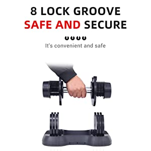 Anti-Slip Hand 5-50Lbs Weight Options All-Purpose Gym Pair Funcode Adjustable Dumbbell Office Home