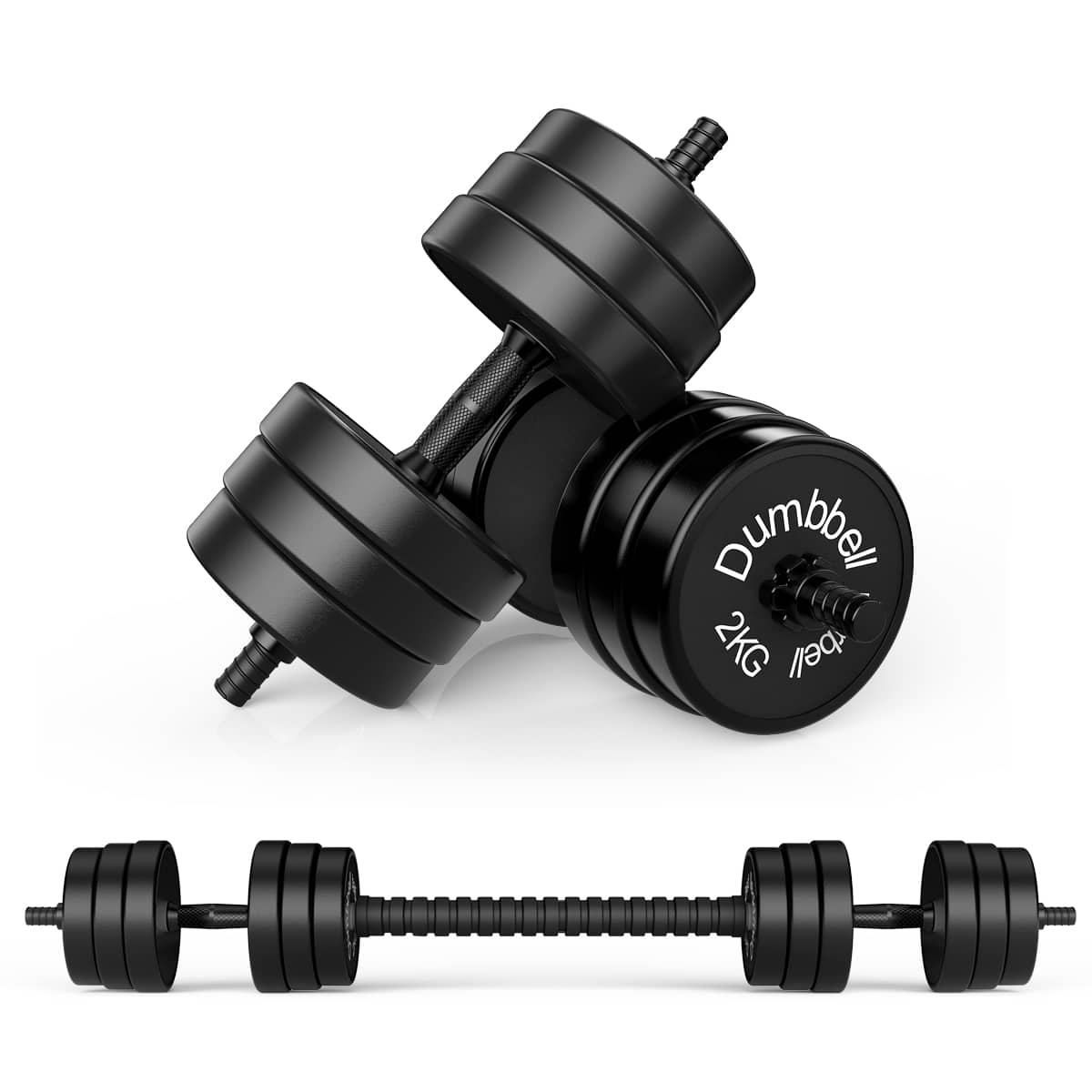 Best Funcode Adjustable Dumbbell Barbell 2 in 1